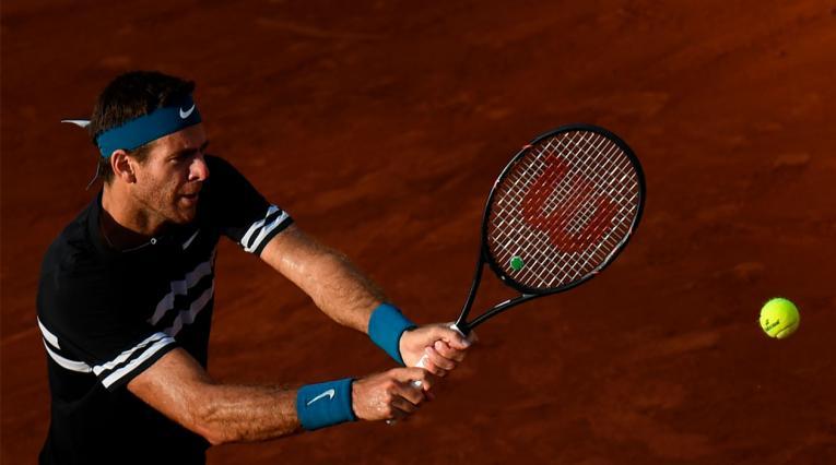 Juan Martín del Potro en semifinales de Roland Garros