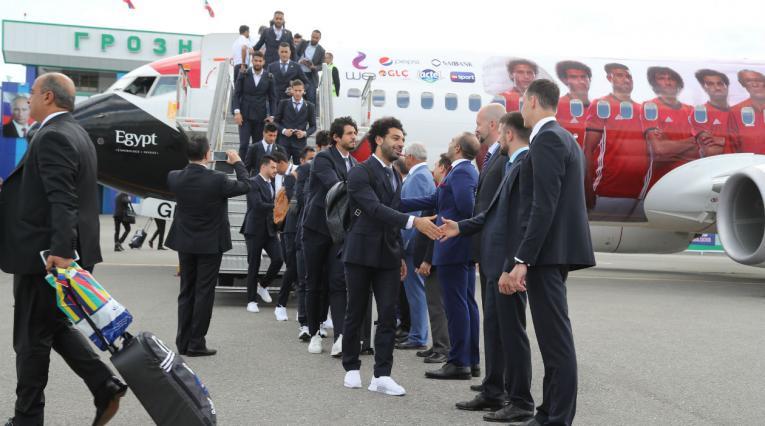 La delegación egipcia arribó a suelo Ruso de la mano de Mohamed Salah