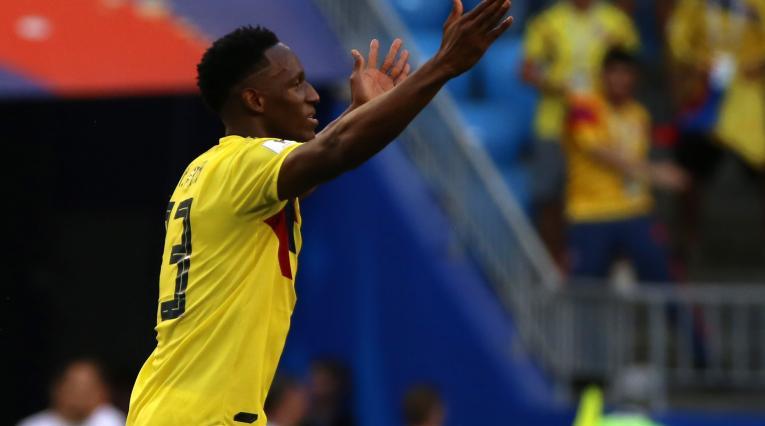 Yerry Mina Colombia Senegal Rusia 2018