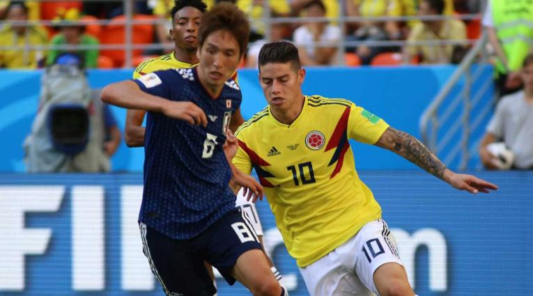 James ingresó en el segundo tiempo del partido de Colombia- Japón