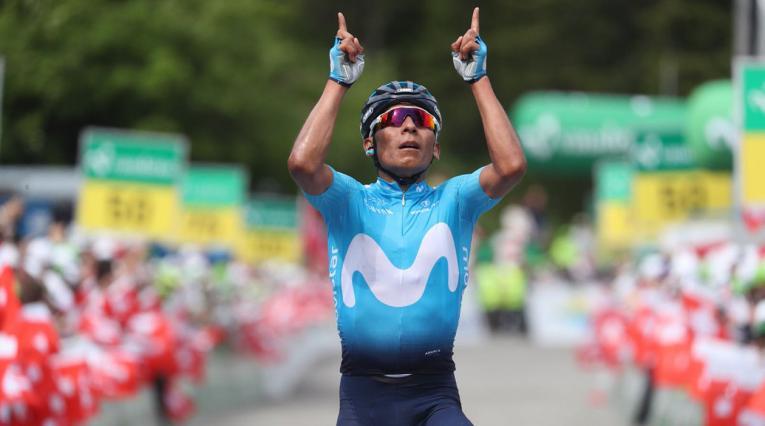 Nairo Quintana, en la Vuelta a Suiza
