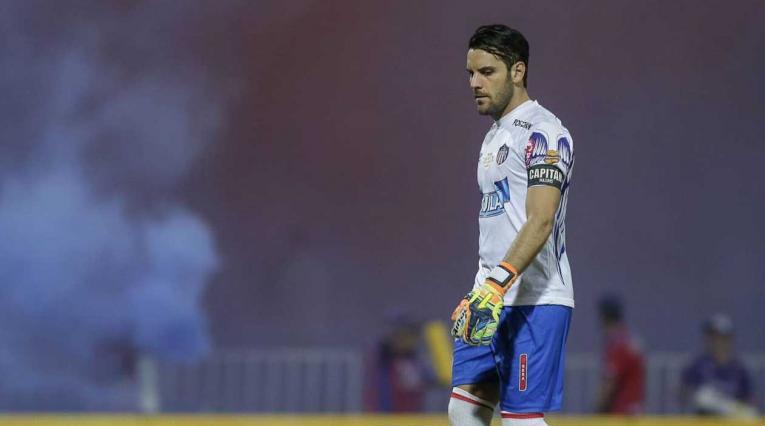 Sebastián Viera, arquero del Junior de Barranquilla en un partido con el elenco 'Tiburón'