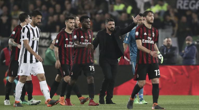 AC Milan volvió a caer con Juventus en la Serie A.