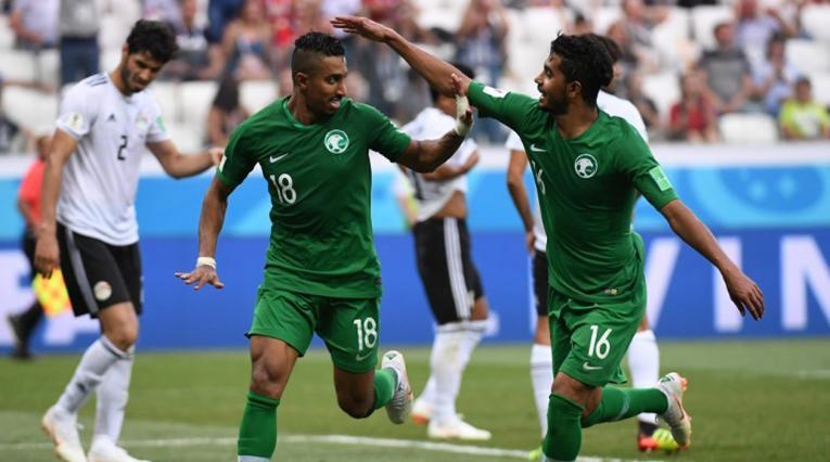 La Selección de Arabia Saudita venció 2-1 al conjunto de Egipto