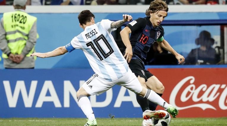 Croacia goleó a Argentina en el Mundial de Rusia 2018