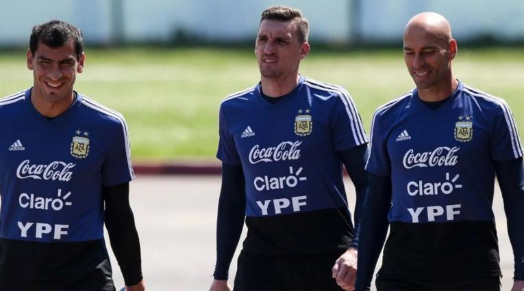 Los tres arqueros de la Selección de Argentina