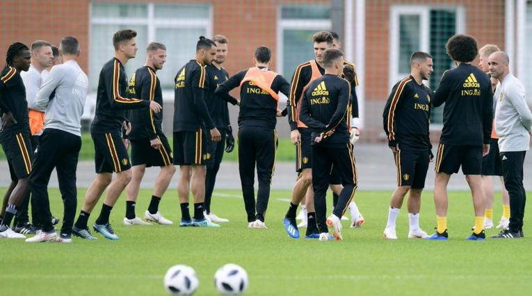 Bélgica entrenamiento previo Panamá