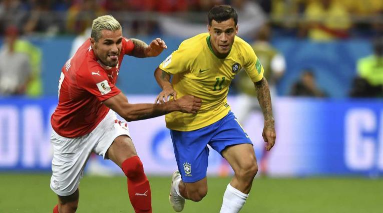 Philippe Coutinho marcó el gol del empate entre Brasil y Suiza