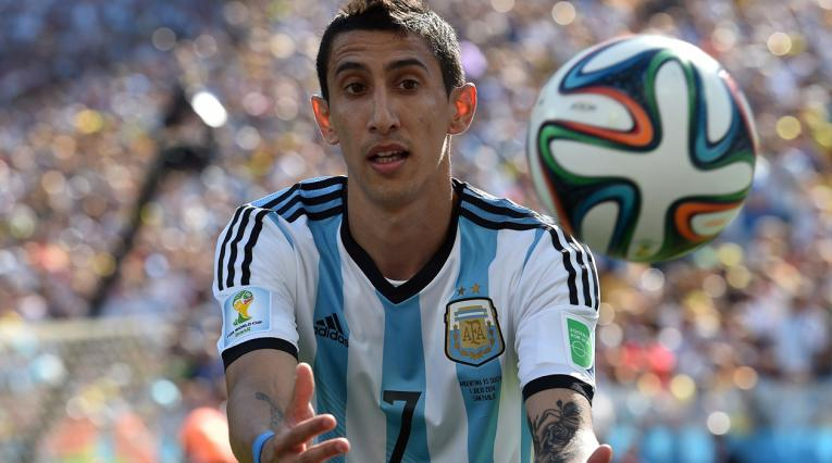 Ángel Di María no pudo jugar la final de Brasil 2014 con Argentina