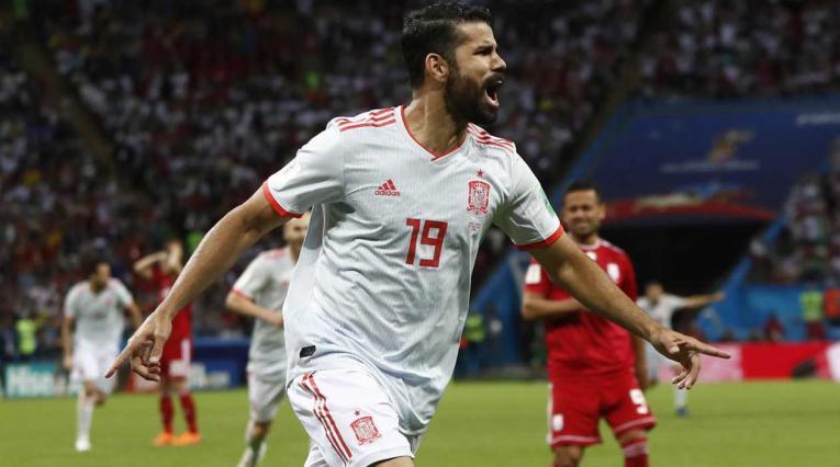 Diego Costa salvó a España ante Irán en Rusia 2018