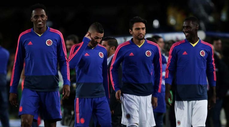 Jugadores de la Selección Colombia en la despedida