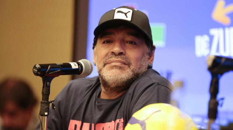 Maradona viajó desde Colombia al Mundial Rusia 2018