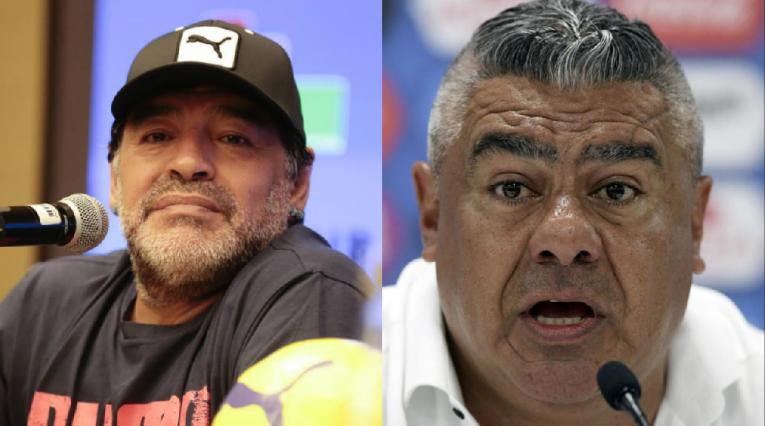 Maradona y Claudio Tapia - Presidente de la AFA