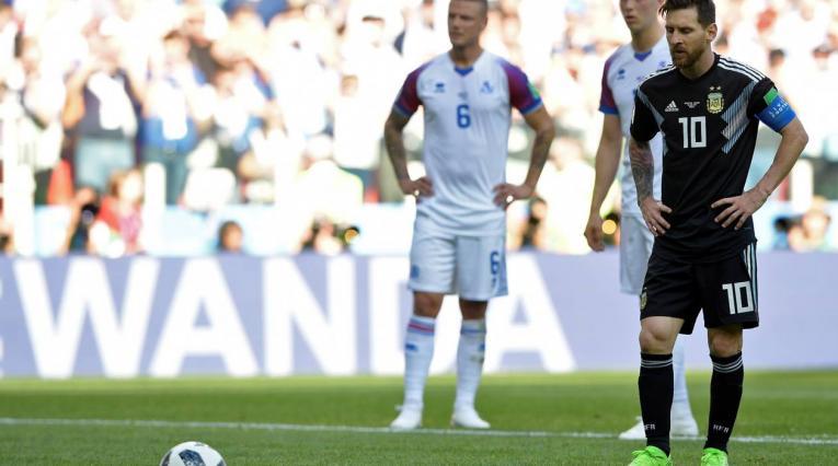 Halldorsson le atajó un penal a Messi