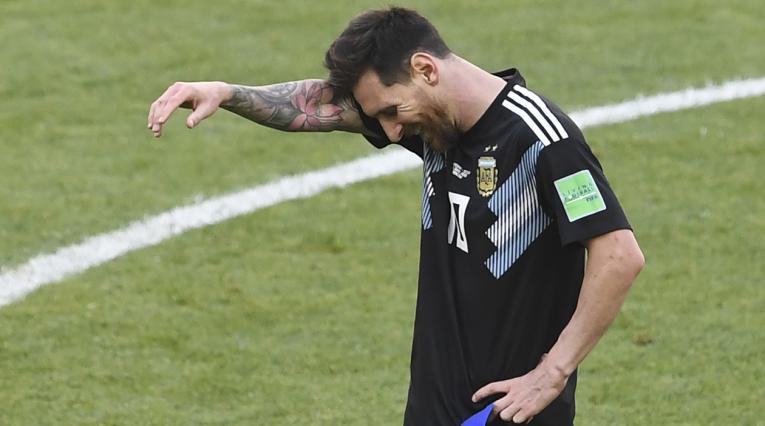 Lionel Messi tras el empate ante Islandia en el debut del Mundial de Rusia