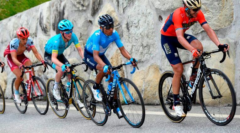 Nairo Quintana, ciclista colombiano al servicio de Movistar Team, en la Vuelta a Suiza