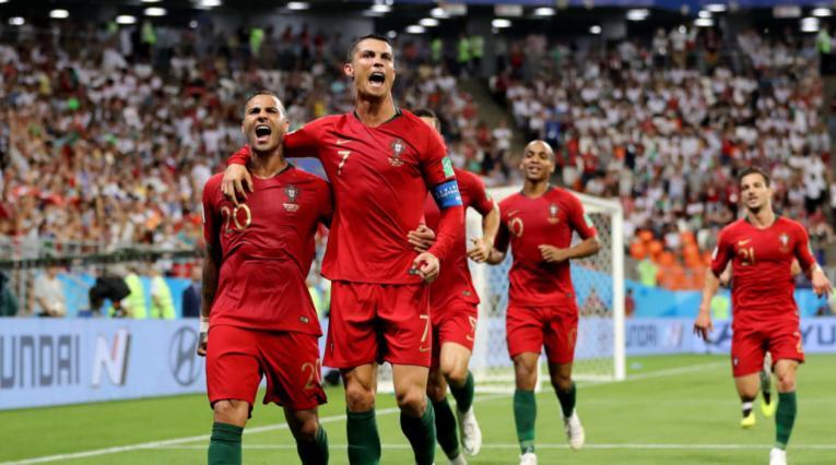 Cristiano Ronaldo celebrando un gol de Portugal