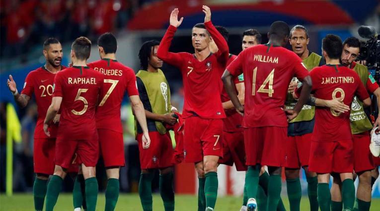 Portugal empató en su debut en el Mundial ante España