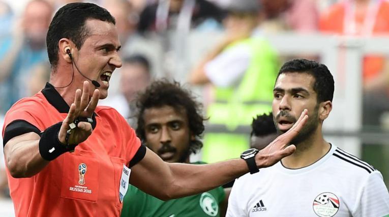 Wilmar Roldán no tuvo una buena actuación en el juego Arabia vs Egipto de Rusia 2018