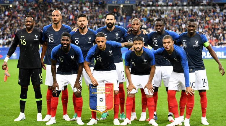 Selección de Francia en partido amistoso previo a la Copa del Mundo Rusia 2018