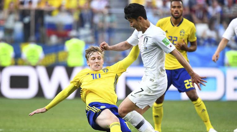 Suecia venció a Corea del Sur por la mínima diferencia