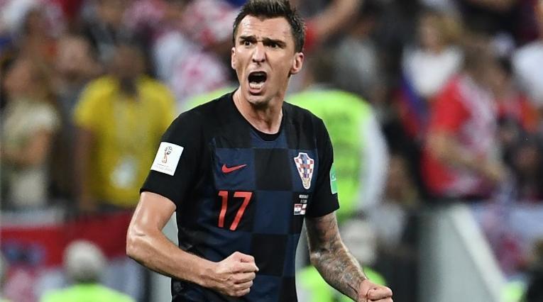 Mandžukić celebrando el gol en el tiempo suplementario de la semifinales ante Inglaterra.