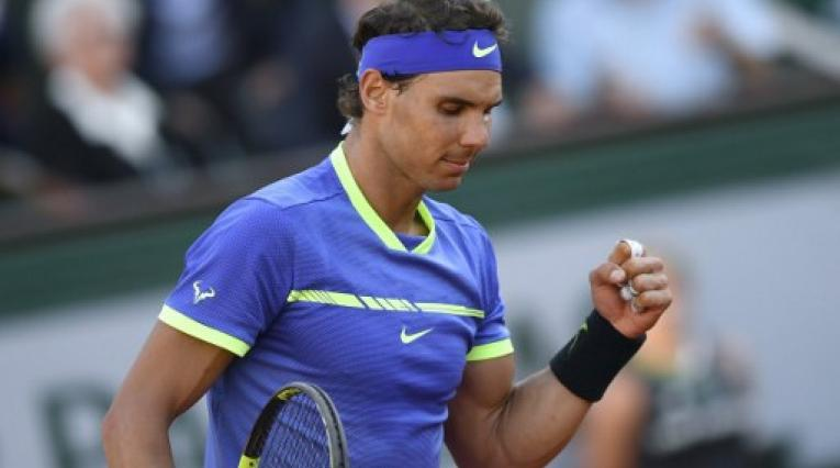 El tenista español Rafael Nadal celebrado su victoria en Wimbledon