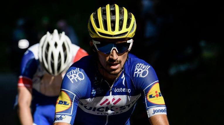 Julian Alaphilippe del Quick Step ganó la décima etapa del Tour de Francia 2018