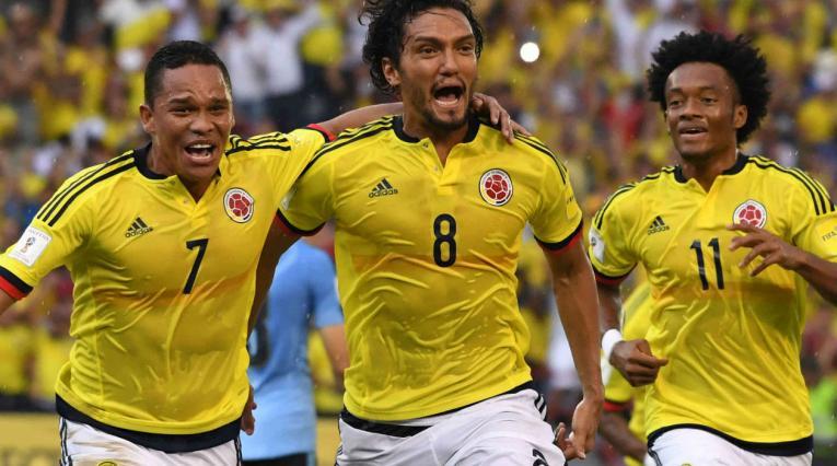 Carlos Bacca, Abel Aguilar y Juan Guillermo Cuadrado