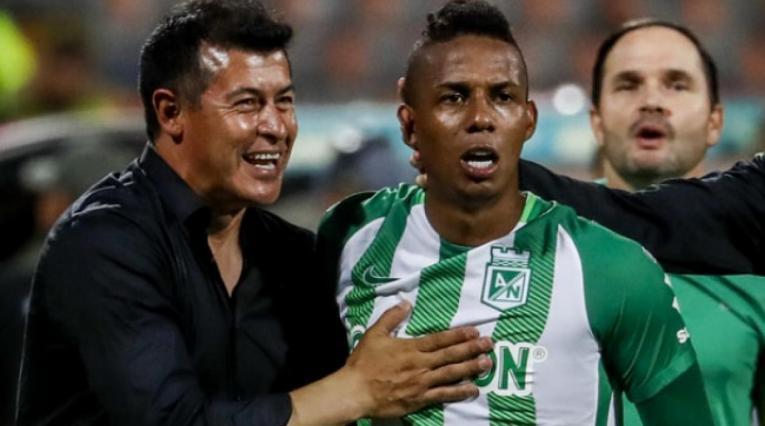 Jorge Almirón y Jeison Lucumí con Atlético Nacional en la Liga Águila