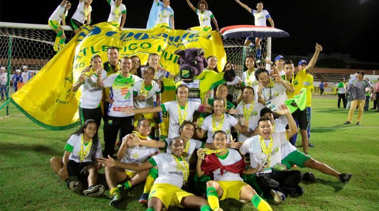 Atlético Huila, actual campeón de la Liga Femenina Águila