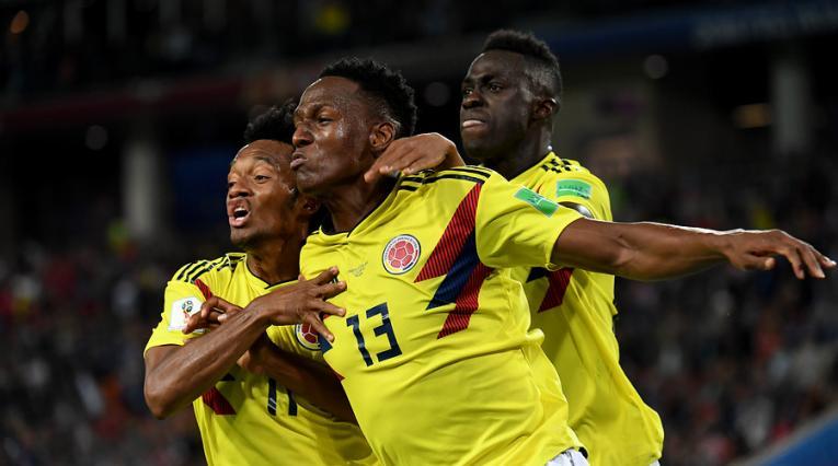 Yerry Mina, goleador de la Selección Colombia en el Mundial de Rusia 2018