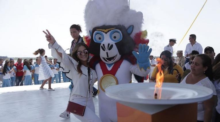 El fuego de los Juegos Centroamericanos y del Caribe llegó a Barranquilla