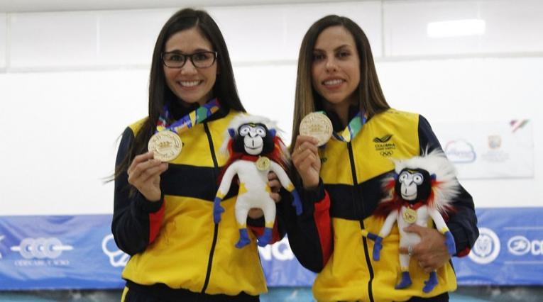 Clara Guerrero y Rocío Restrepo alcanzaron el oro en bolos