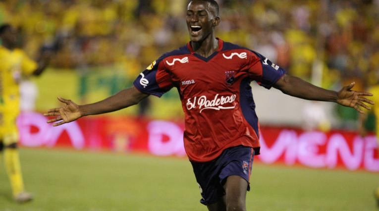 Jackson Martínez jugando para el Independiente Medellín en el 2009