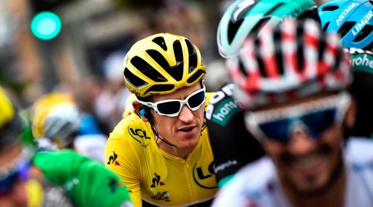 Geraint Thomas del SKY durante la última etapa del Tour de Francia