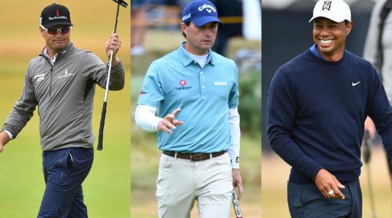 Zach Johnson, Kevin Kisner y Tiger Woods