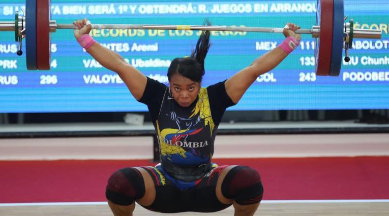 Leidy Solís, pesista colombiana