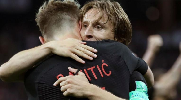 Rakitic y Modric, jugadores de Croacia