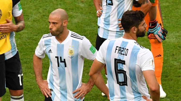 Javier Mascherano con la selección Argentina