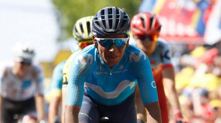 Nairo Quintana del Movistar en el Tour de Francia