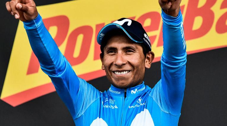 Nairo Quintana ganando una etapa en el Tour de Francia