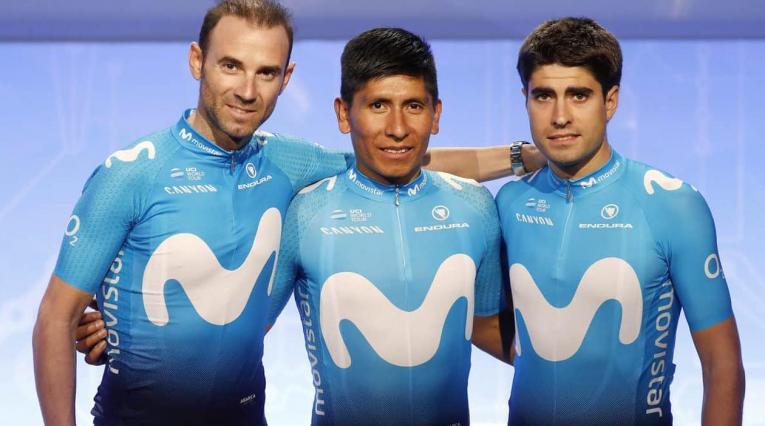 Alejandro Valverde, Nairo Quintana y Mikel Landa