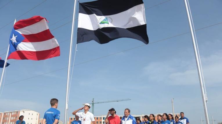 Delegación de Nicaragua presente en Barranquilla 2018