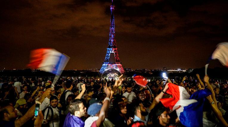 Las celebraciones en París del título de Francia en Rusia 2018