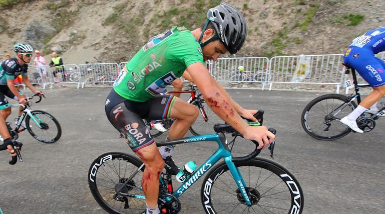 Peter Sagan se cayó en la etapa 17 del Tour de Francia