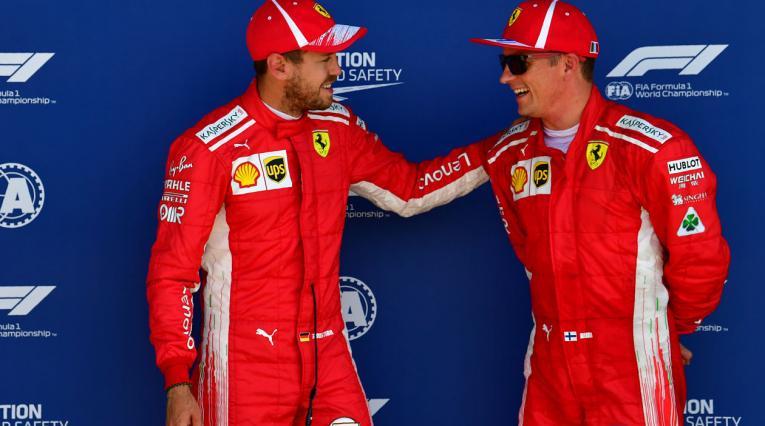 Sebastian Vettel y Kimi Raikkonen, pilotos de Ferrari