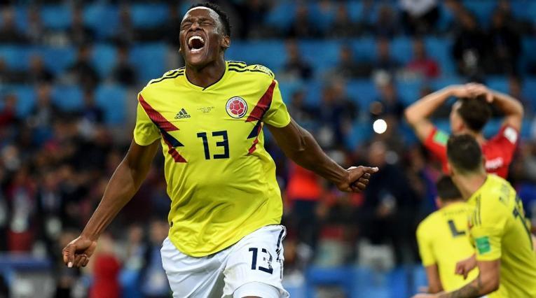 Yerry Mina marcó el gol de la prórroga entre Colombia e Inglaterra.