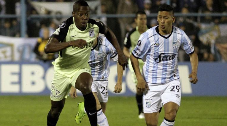 Helibelton Palacios con Atlético Nacional en Copa Libertadores