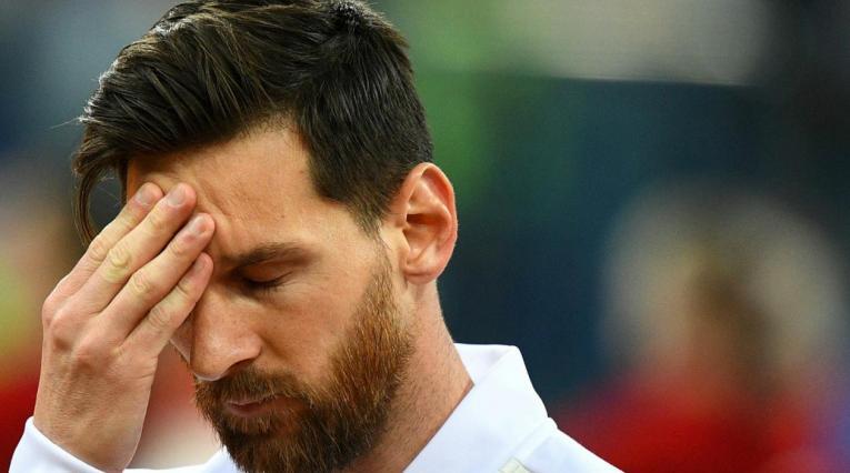 Lionel Messi, delantero de la selección Argentina
